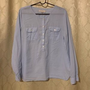 Loft  blouse SZ L  blue